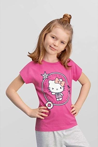 Hello Kitty Lisanslı Kız Çocuk T-Shirt Pembe